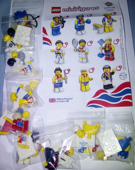 Team GB minifigures of 9